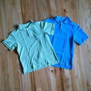 Two boy's polo shirts size small